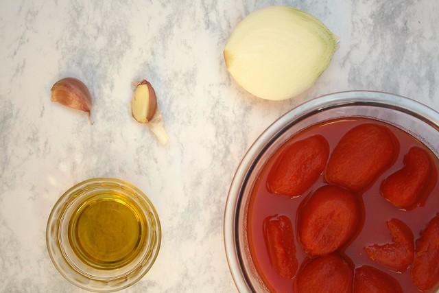 Ingredientes para preparar la salsa