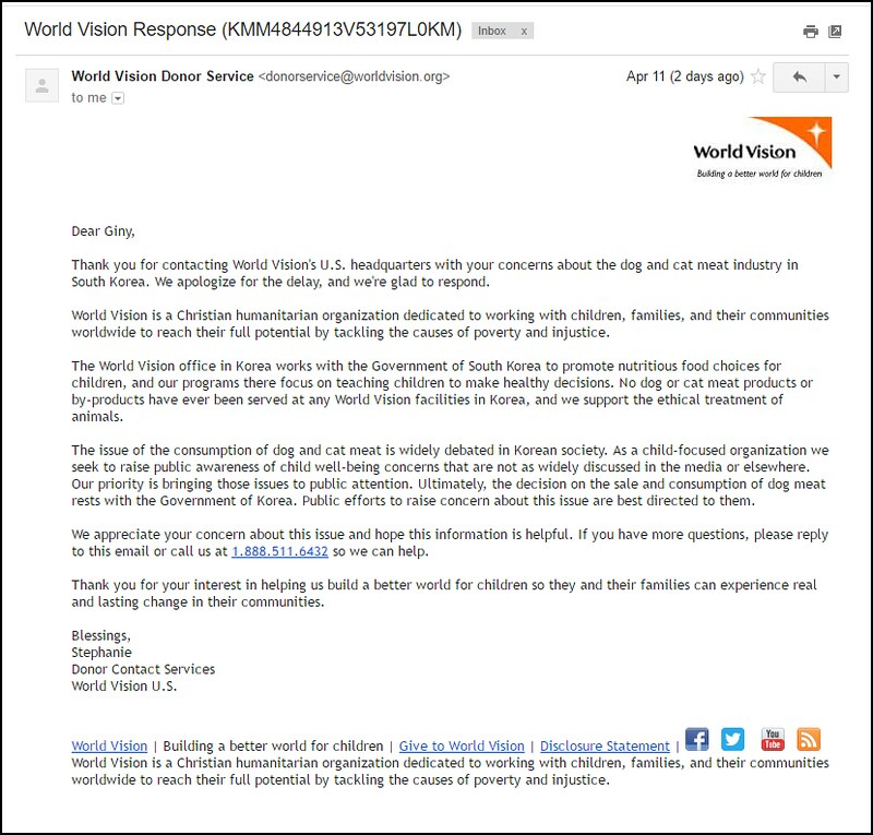 Response from World Vision 041317