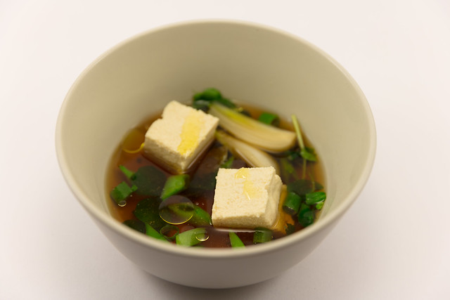 Homemade tofu with Dashi