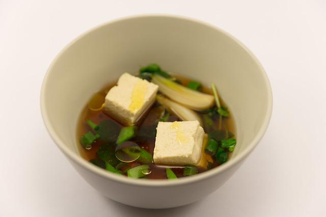 Homemade tofu with Dashi