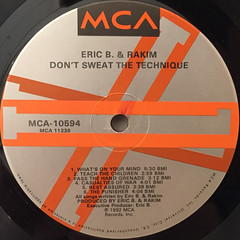ERIC B. & RAKIM:DON'T SWEAT THE TECHNIQUE(LABEL SIDE-A)