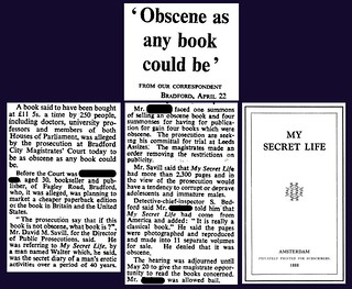 "22nd April 1968 - Obscene book trial : ""My Secret Life"" 