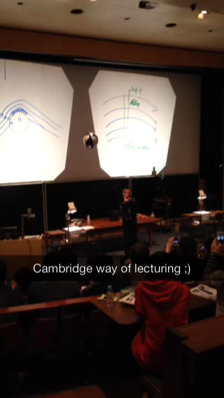 Whitney Hu : Cambridge style of fluid dynamics lectures | Flickr