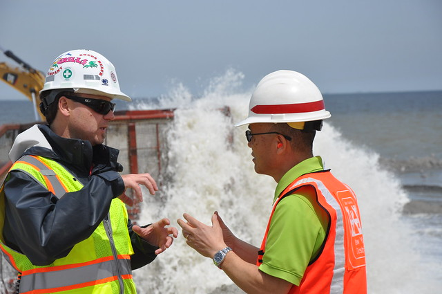 Army Corps repairs and restores previously constructed coastal storm risk management project in Keansburg, NJ (5-7-14)