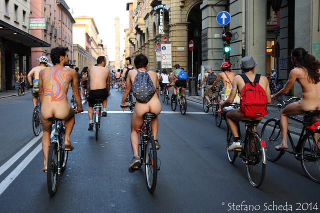 Naked Mobility Mass 2014 - Bologna, Italy