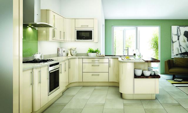 Ivory Kitchen Cabinets With Glaze