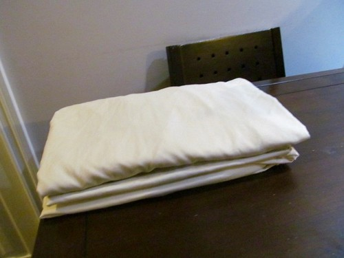 I folded a fitted bedsheet