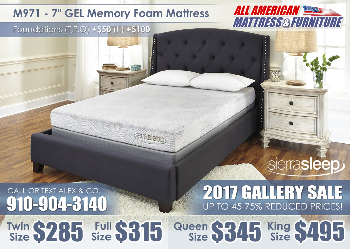 M971 7in GEL Memory Sierra Sleep 2017 Special