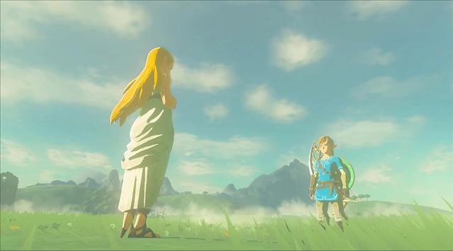 Legend of Zelda Breath of the Wild - Link Saves Zelda