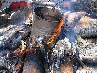 Billycan campfire