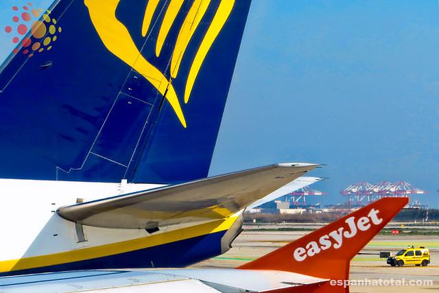 low-cost Ryanair EasyJet