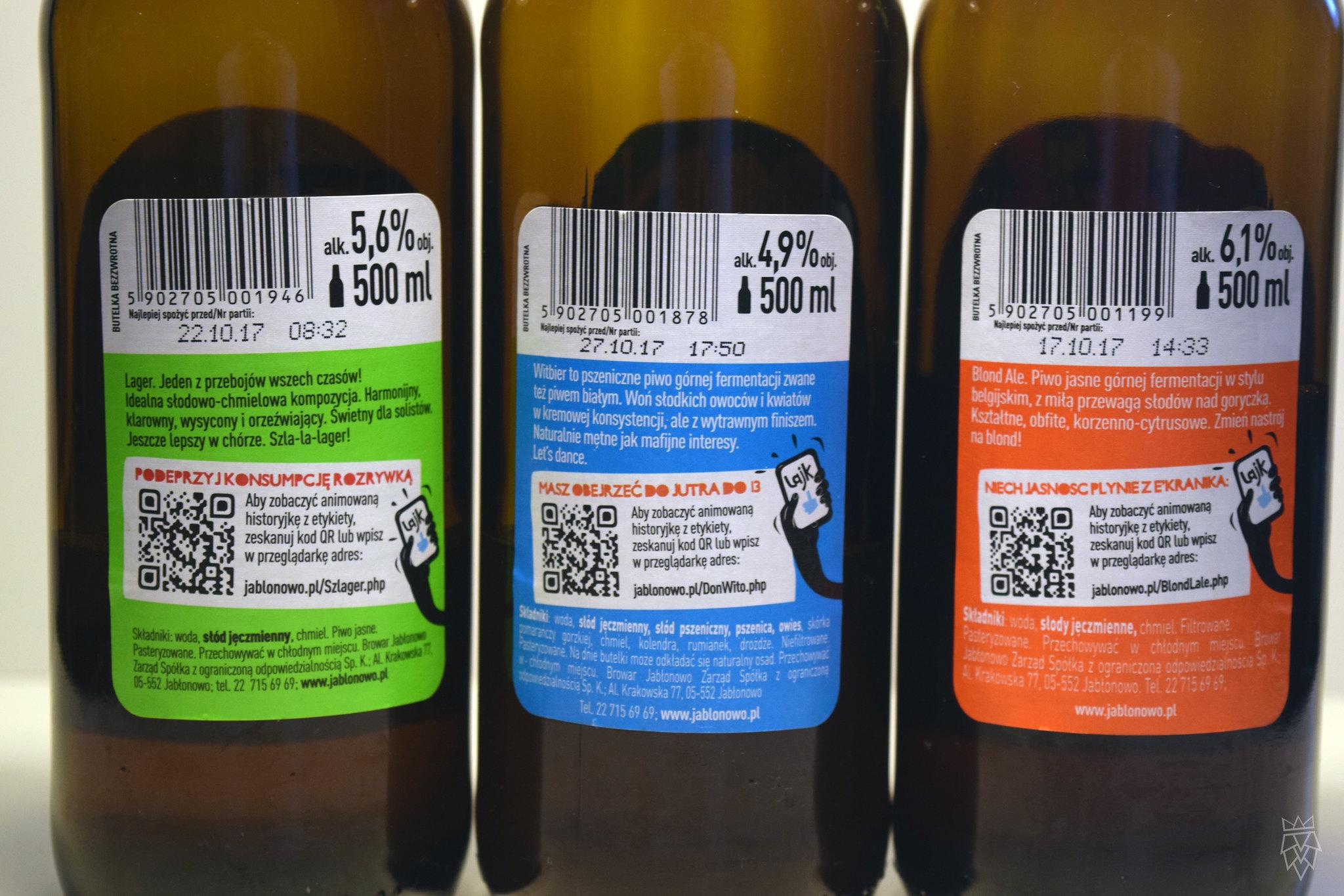 jabłonowo etykiety