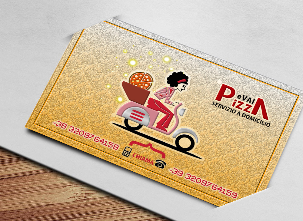 Pizza and Go Business Card | We realize Custom Business Card… | Flickr