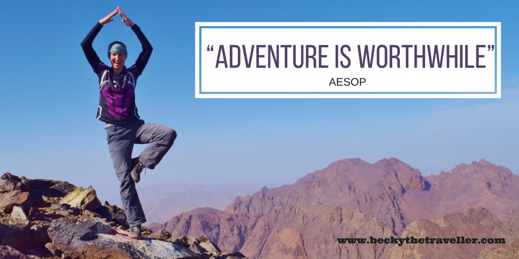 Travel quotes - Inspirational travel quotes - Adventure is worthwhile