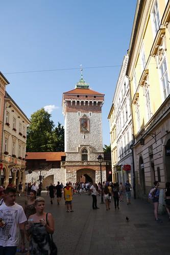 Puerta del centro histórico de Cracovia