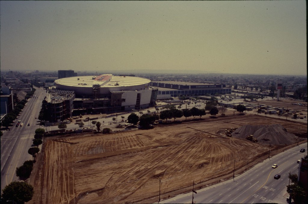 Staples Center Construction With L A Convention Center I