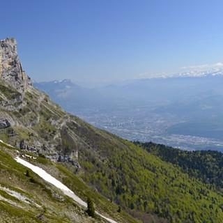 Superbe photo prise par Matthieu Metzger sur le chemin du Col de l'Arc au-dessus de Grenoble.