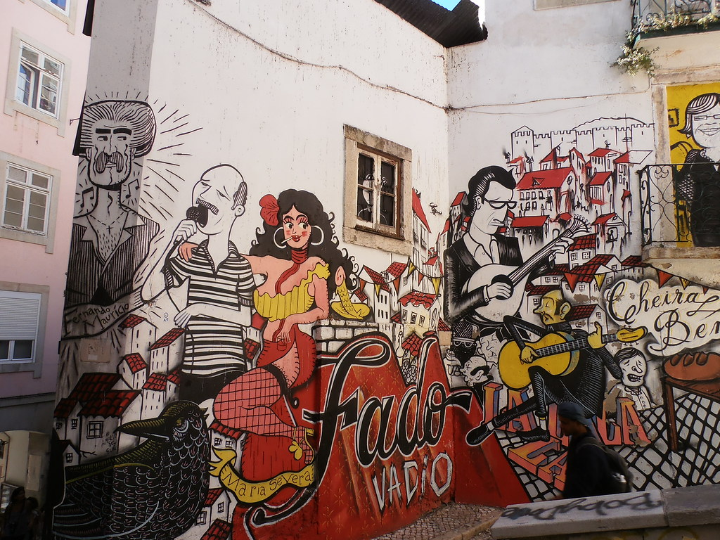 Fado Wall Lisbon Portugal Maria Severa Street Art Graf Flickr