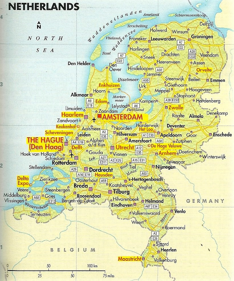 Map of the Netherlands Undated Orientation map for trips Flickr