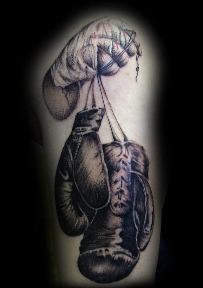 Boxing Glove tattoo by Ray Tutty | tattoo studio | Flickr