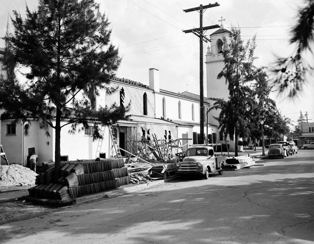 St Anne S Catholic Church Santa Ana Oct 1950 There