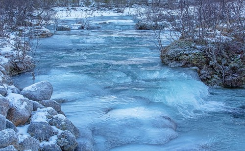 frozen stream. Epic Photos from Northern Norway by Benny Høynes