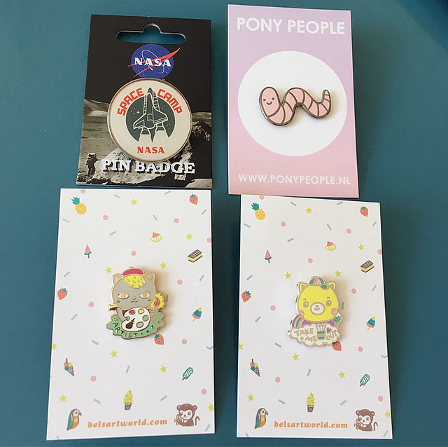 Birthday pins for my collection!