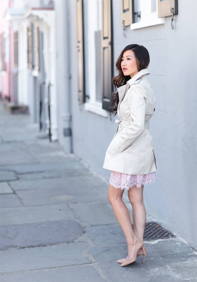 express petites classic trench coat review