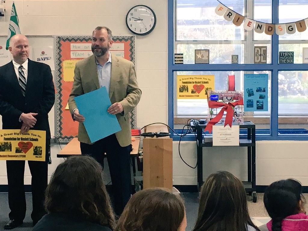 Haslett Elementary Schools Celebrate New 3D Printers