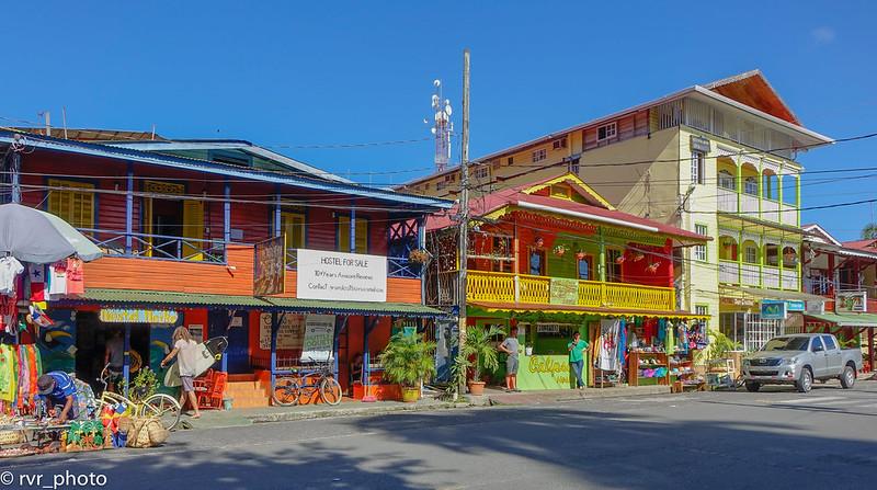 Calle principal Bocas Town, Isla Colón, Bocas del Toro