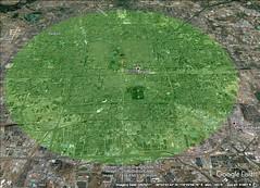 Bejing 20 kilometer diameter