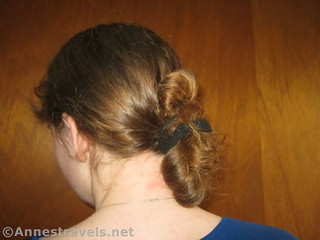 Finished Hair Elastic Twist Up - 12 Hiking Hairstyles that are Pretty & Practical