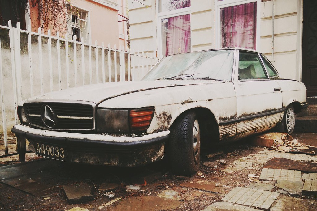 Abandoned Mercedes Sl Alexander Nikolov Flickr