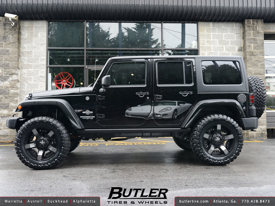Jeep Wrangler With 20in Rockstar Wheels Additional