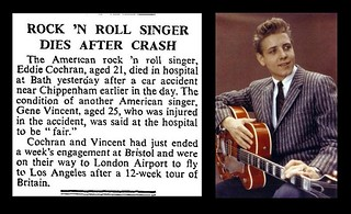 17th April 1960 - Eddie Cochran died in car crash | by Bradford Timeline