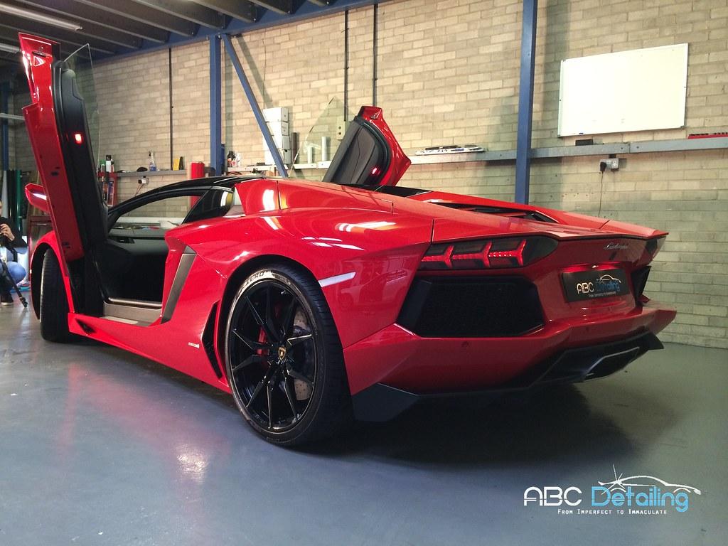 2014 Rosso Mars Lamborghini Aventador Roadster Lp700 4
