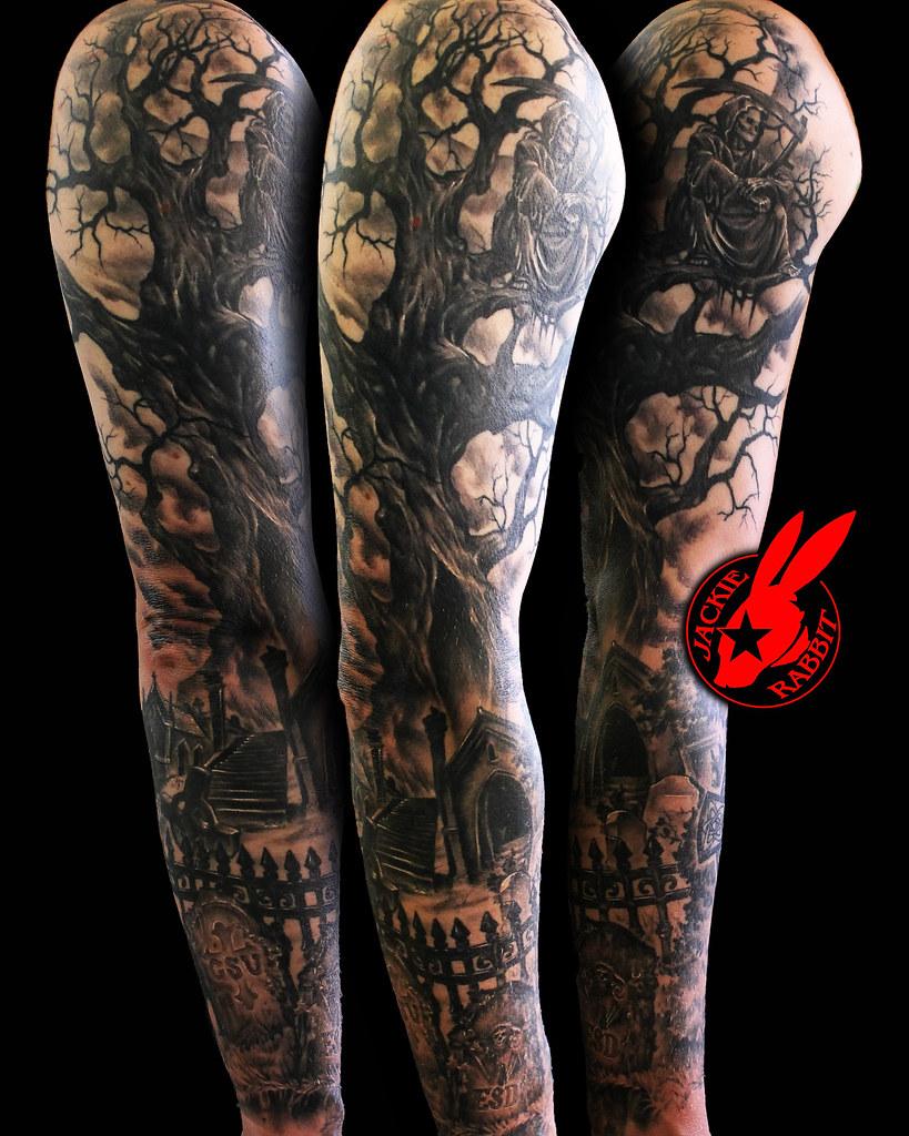 healed reaper tree graveyard sleeve by jackie rabbit flickr. Black Bedroom Furniture Sets. Home Design Ideas