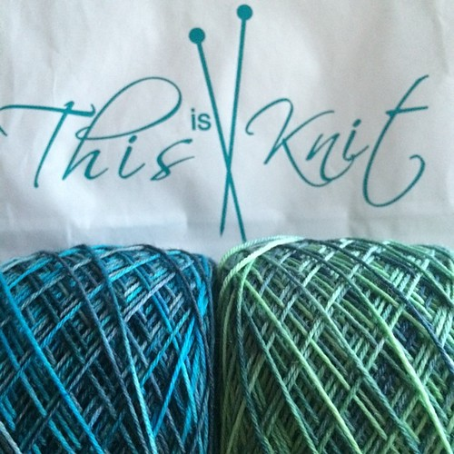 A visit to @thisisknit resulted in @dublindye treats.