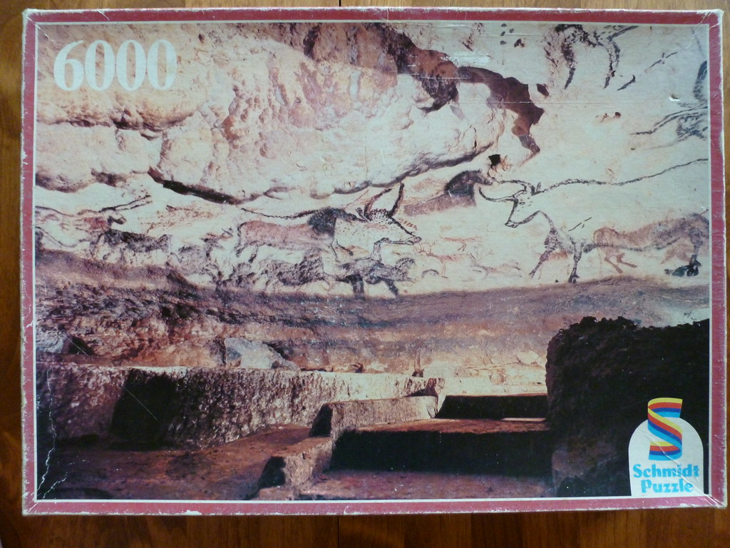 6000 piece puzzle lascaux caves france by schmidt ger. Black Bedroom Furniture Sets. Home Design Ideas