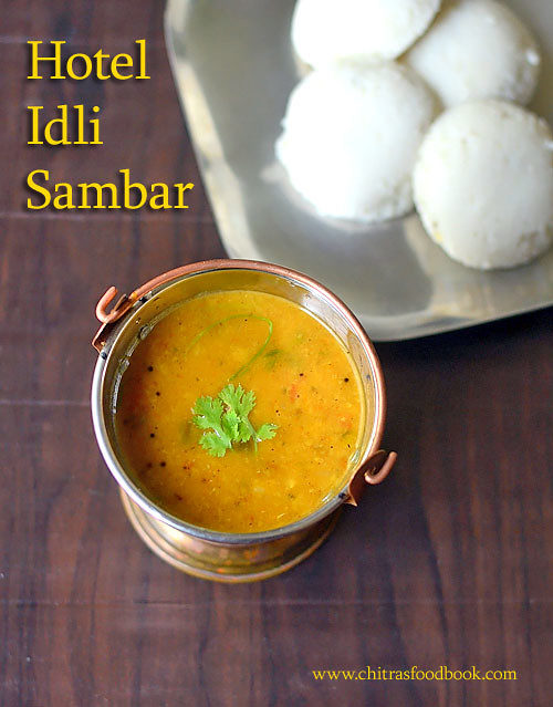 restaurant style sambar for idli