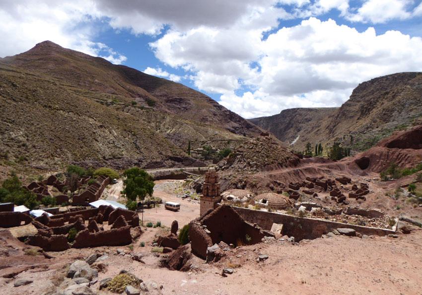 Vista desde la hacienda abandonada junto a la mina de sal. Autora Cinthia Giménez Arce, diciembre 2016
