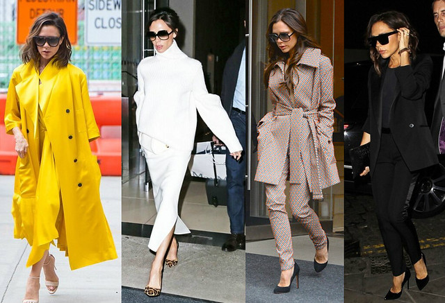Victoria-Beckham-wearing-monochrome-yellow-monochrome-white-monochrome-black