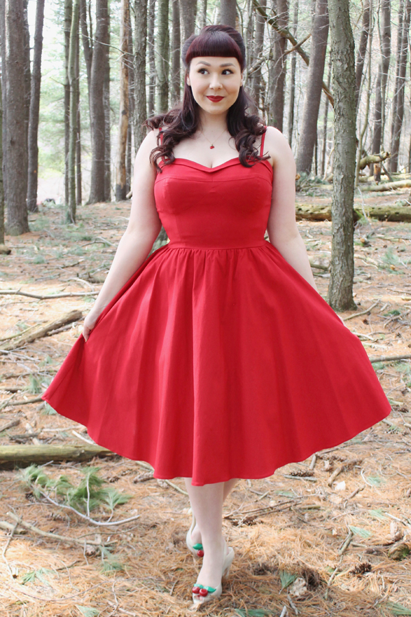 stop staring! red dress