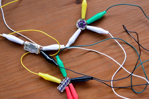 It's sometimes good to test out  electronic circuit designs with Alligator Clips beforehand