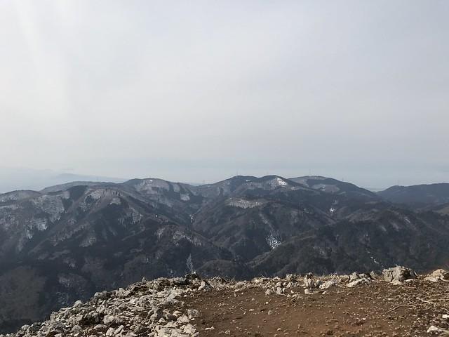 霊仙山 今畑ルート 西南尾根より琵琶湖