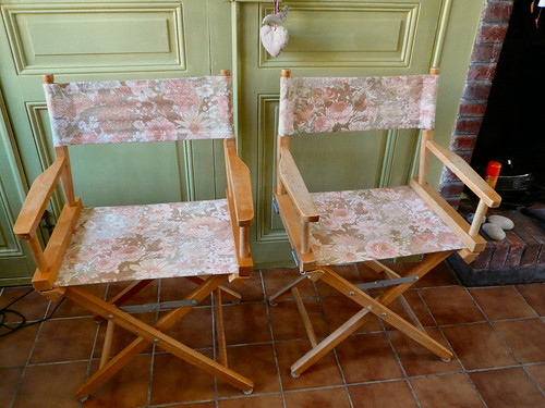 Director's chairs finished