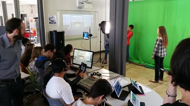 Les élèves du collège Joliot Curie ont présenté un journal télévisé en direct