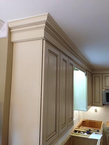 White Kitchen Cabinet Gray Walls