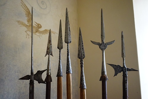 Pikes, spears, and halberds at Castle Veldstejn | by dionhinchcliffe