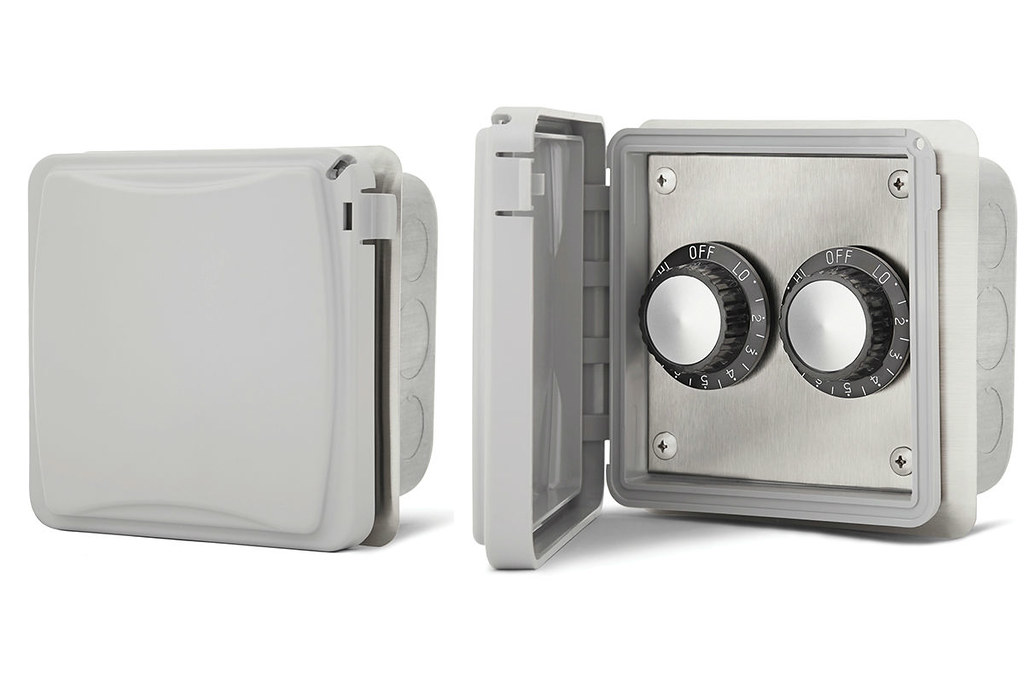 QBC Bundled Infratech 14-4215 Dual Input Heat Regulators with Weatherproof Cover and In Wall Installation 14-4215 for 240 volt 15 Amps - Plus Free QBC Infrared Heating 101 eBook